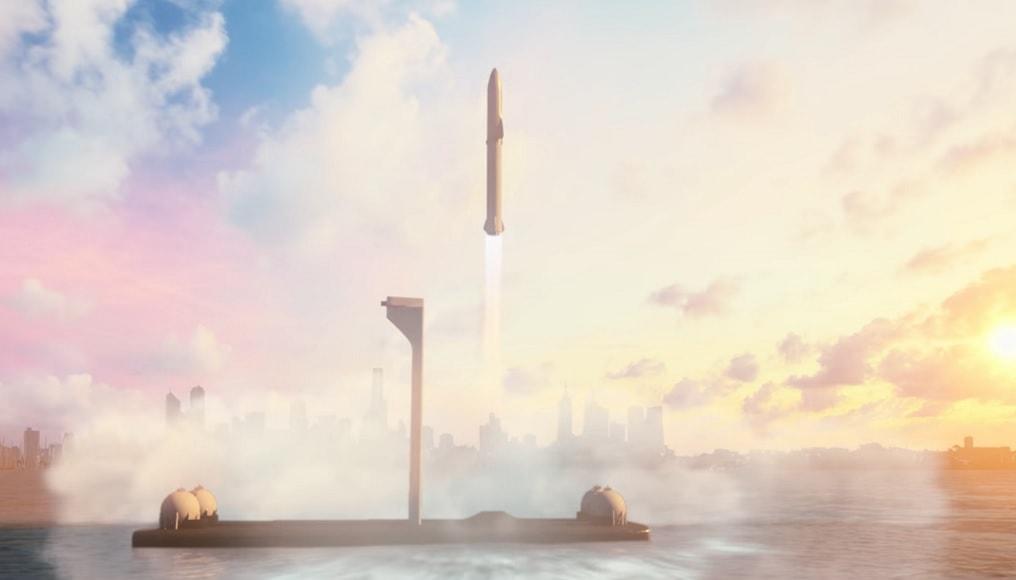 راکت BFR در حال پرواز