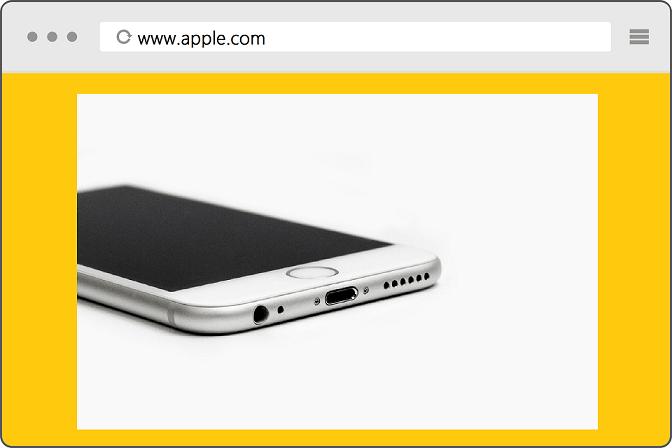 صفحه ی اول وبسایت اپل